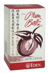 Eden Foods Plum Balls 260ct by EDENÃ'®