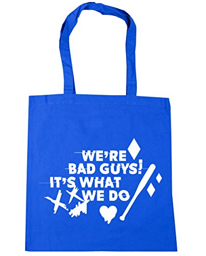 We 10 Cornflower Harley We're Do It's Blue 42cm Shopping Tote Quote litres Bag Bad What x38cm HippoWarehouse Gym Beach Guys UXWaqSwS