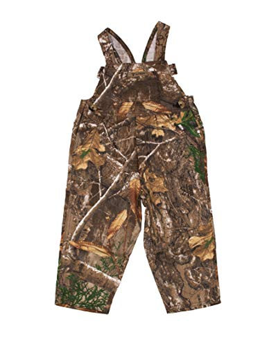 King's Camo Infant Toddler Overalls, Realtree Edge, 2 Toddler