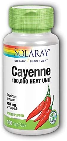 Cayenne 450mg Solaray 100 Caps