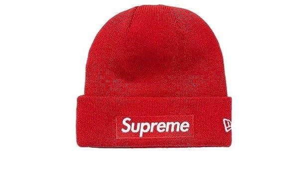 b75d5f692 Amazon.com: SupremeNewYork Supreme Box Logo Beanie Red FW18 Fall ...