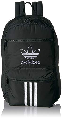 adidas Originals Unisex National 3-Stripes Backpack, Black/White, ONE SIZE