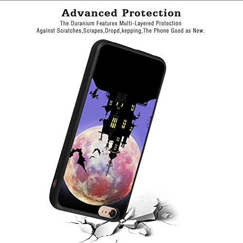 DISNEY COLLECTION Phone Case Fit for iPhone 6 Plus, iPhone 6S Plus Halloween Bat House Black Rub Soft TPU Protective Cover -
