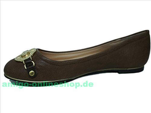 Guess, Ballerines Pour Femmes Brown Brown
