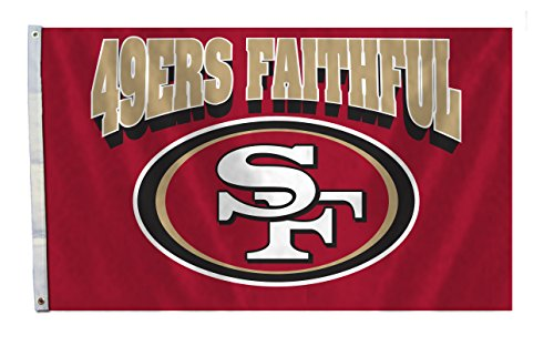 NFL San Francisco 49ers Flag with Grommets, 3 x 5-Feet, Card