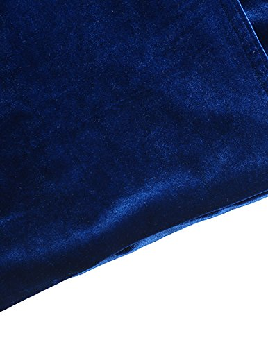 HaoDuoYi Womens Solid Velvet Double Breasted Trench Coat(XXL,Blue) by HaoDuoYi (Image #7)