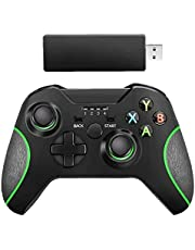 Wireless Controller Gamepad Joystick Joypad Remote Switch Controller for Microsoft Xbox One/S/X/E/PS3/Windows 10 Black Computer Peripherals