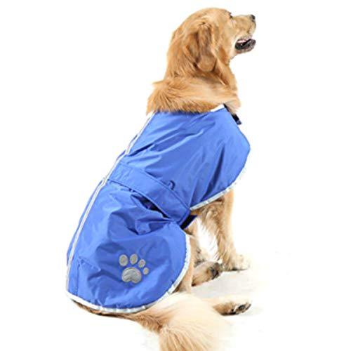 - TOPSOSO Fashion Shop Nor'Easter Blanket Coat for Dog (L, Blue).