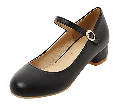 Flats Luccichio Chiusa AgeeMi Fibbia Ballet Punta Tacco Nero Shoes Basso Donna OqUxUXrYwz