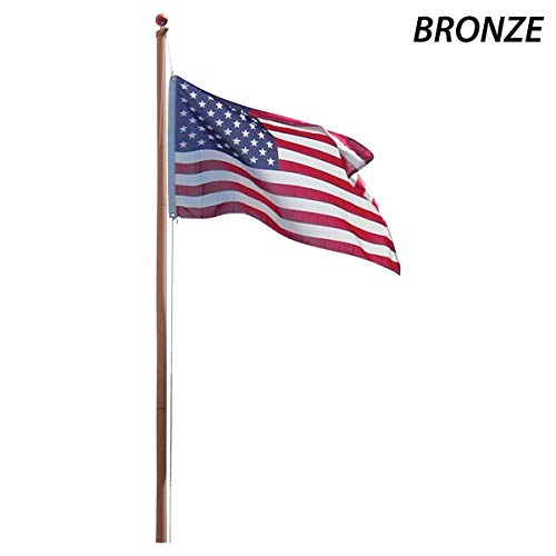 Super Tough AS20OP_ONLINESTORES 20ft Aluminum Residential Flagpole-Bronze