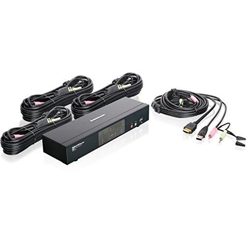 IOGEAR MiniView 4-Port HDMI Multimedia KVM Switch with Audio