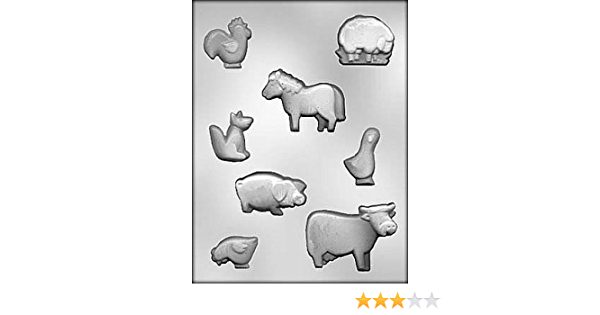 CHOC MOLD FARM ANIMALS 1.75 in. 3 in. CH11243 by Chocolate ...