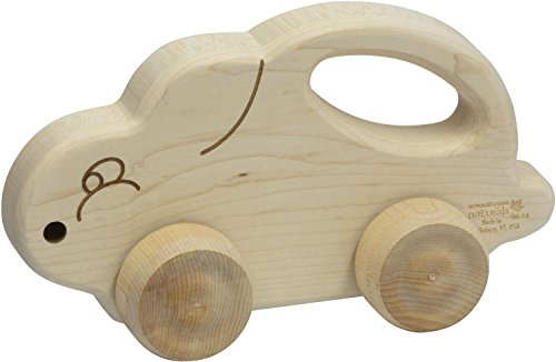 Push N Pull Bunny - Made in USA - Schoolhouse Naturals
