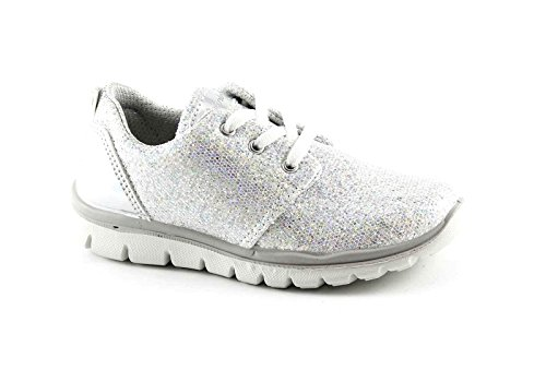 chaussures Bianco paillettes fille PRIMIGI bas baskets course lacets 75858 Z8C5w5xq