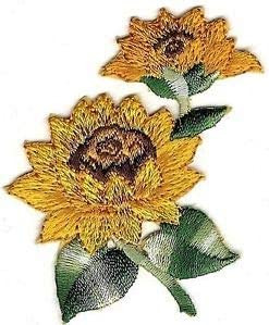Embroidered sunflower crown