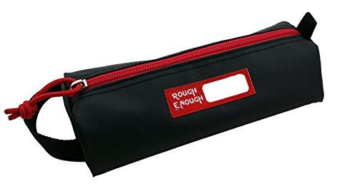 Rough Enough Colorful Tarpaulin Name Tag Small Pencil Case Pouch (Black)
