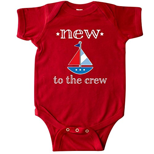 Nautical Themed Sailboat (inktastic - Baby Boy New to The Crew Sailboat Infant Creeper Newborn Red 2ae7d)