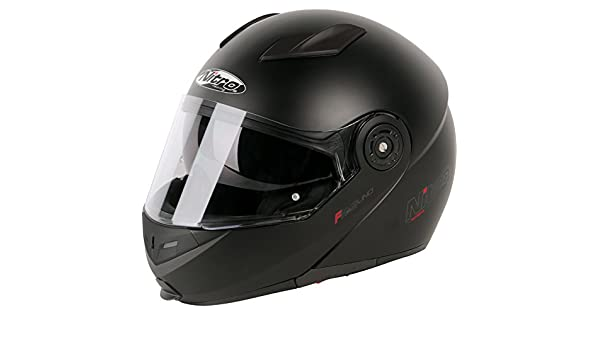 Amazon.es: 187216S02 - Nitro F345 Uno DVS Flip Front Motorcycle Helmet S Satin Black (02)