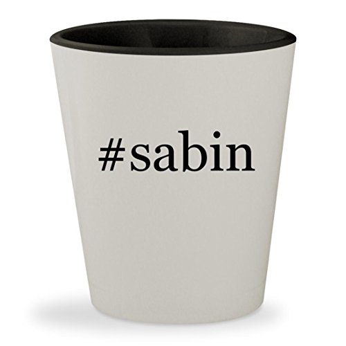 #sabin - Hashtag White Outer & Black Inner Ceramic 1.5oz Shot Glass