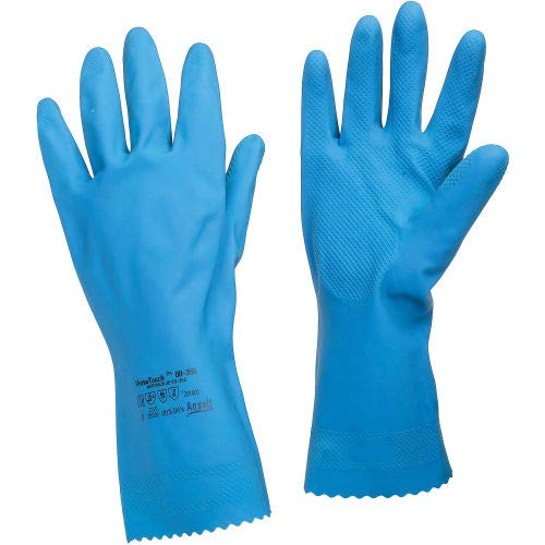 Size 8 Ansell 88-356 VersaTouch Natural Blue Chemical Resistant Gloves Pkg Qty 12 88-356-8 1 Pair