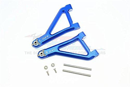 GPM Traxxas Unlimited Desert Racer 4X4 (#85076-4) Upgrade Parts Aluminum Front Upper Suspension Arm - 8Pc Set Blue
