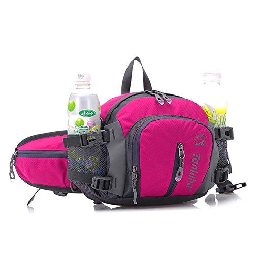 Shoulder Waterproof Crossbody in Sport 4 Multifunction Waist Travel Handbag Catkit Outdoor Pink Backpack Hot Bag 1 wABqwfv