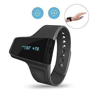 Sleep Oxygen Monitor w Vibration Alert for Snore & Sleep Apnea w Free APP, Bluetooth Wrist Pulse Oximeter Tracking Overnight Oxygen Saturation Level, Anti Snoring Mate for CPAP Machine