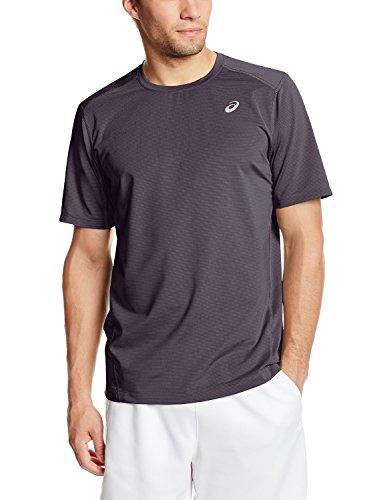 Asics Men's All Sport Stripe Short Sleeve Top, Steel, Large