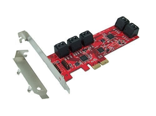 Ableconn PEX10-SAT 10 Port SATA 6G PCI Express Host Adapter Card - AHCI 6 Gbps SATA III Low Profile PCIe 2.0 Expansion Card