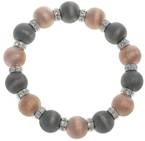 Beautiful 925 Sterling Silver Women Stretch Bracelet with Crystal - 7.7 inch12mm, 15 Grams by Silver Artwork