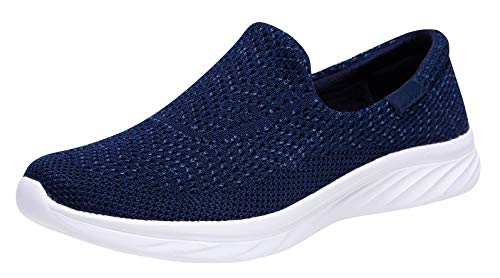 YILAN Women's Fashion Sneakers Breathable Sport Shoes (9 B(M) US, Tex Blue) ()