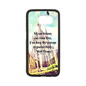 Durable Hard cover Customized TPU case Disney castle Samsung Galaxy S6 Cell Phone Case White