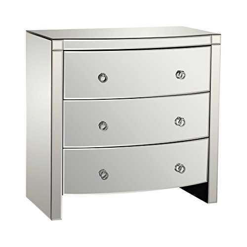 Dimond Home 1114-162 Bow Front Three Drawer Mirror Chest,...