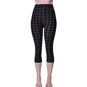 - 41Wa9hGRarL - VIV Collection Print Brushed Ultra Soft Cropped Capri Leggings Regular and Plus (Sizes XS – 2XL) Listing 3
