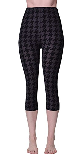 - 41Wa9hGRarL - VIV Collection Print Brushed Ultra Soft Cropped Capri Leggings Regular and Plus (Sizes XS – 2XL) Listing 3