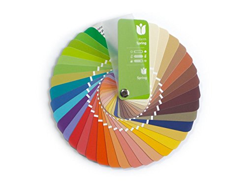 (Compact Color Swatch Fan Warm Spring with 35 Colors for Color Analysis and Image Consulting)