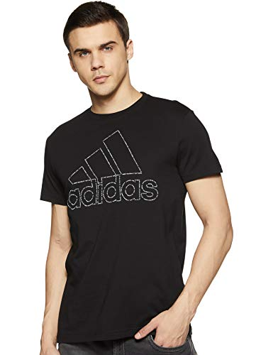Adidas Men's Solid Regular Fit T-Shirt Cotton