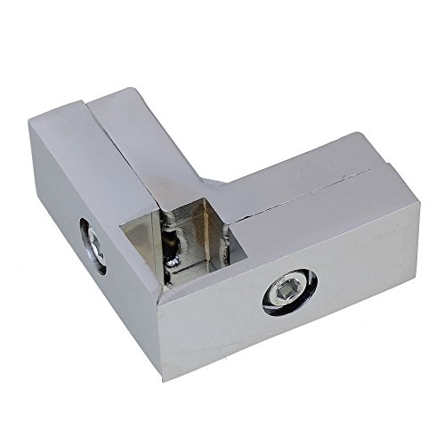 Aluminum Alloy 3 Way L Shape Square Tube Clamp Tube Connector Pipe