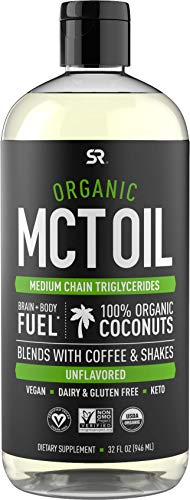 Organic MCT Oil derived from Non-GMO Organic Coconuts | Great in Keto Coffee, Tea, Smoothies & Salad Dressings | Non-GMO…