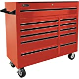 Homak 41-Inch Professional Series 11-Drawer Rolling Cabinet, Red, RD04011410