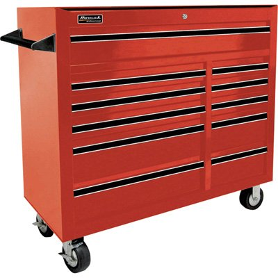 Homak RD04011410 41-Inch Pro Series 11 Drawer Rolling Cabinet Red