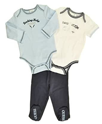 Guess Newborn Boys Rockin Baby 3Pc Pant Set (0/3M)