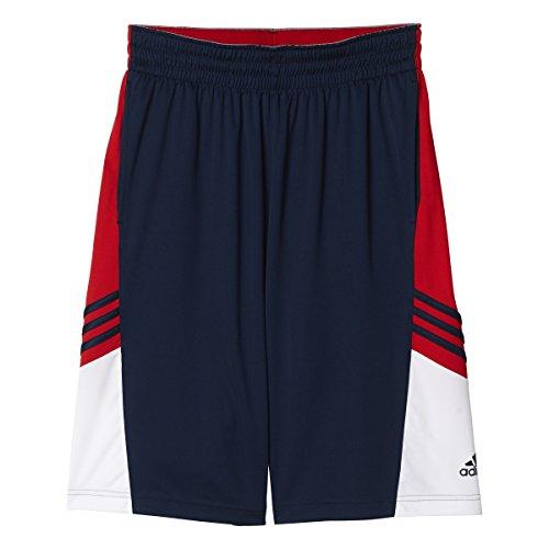 adidas Performance Men's Basketball Team Speed Pregame Shorts, Collegiate Navy/Light Red, Medium