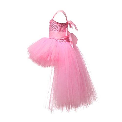 513827c85080 LEEGEEL Handmade Girls Tutu Dresses Girls Tulle Dress for Birthday ...