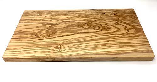 Schneidebrett aus Olivenholz handgefertigt auf Mallorca Brett aus Holz Schneidbrett Küchenbrett Fleischbrett Tranchierbrett Servierbrett verschiedene Größen (45x25x2 cm)