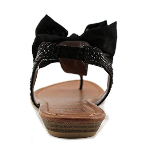 Material Girl Swan Offener Spitze Synthetik Slingback Sandale Black