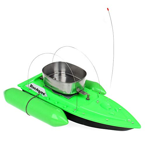 Blueskysea 1200G RC Bait Boat for Fishing Carp Lure Fish Finder Ship Anti Grass Wind Remote Control Extra 9600mAh Battery Green