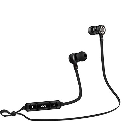 PTM B5 Earphone Headphone Bluetooth 4.2 Headset Wireless Earbuds Microphone PC Fone De Ouvido - Black