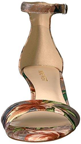 Women's Grey West Fabric Nine Taupe Sandal Light Leisa Medium Multi qYF6Yx5nPw