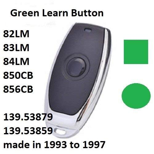 - Craftsman Garage Door Opener Mini Remote Control Work with Green Learn Button